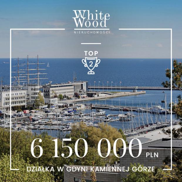 Wśród pięciu najdroższych transakcji White Wood Nieruchomości znalazła się działka w Gdyni Kamiennej Górze za 6 150 000 zł.
