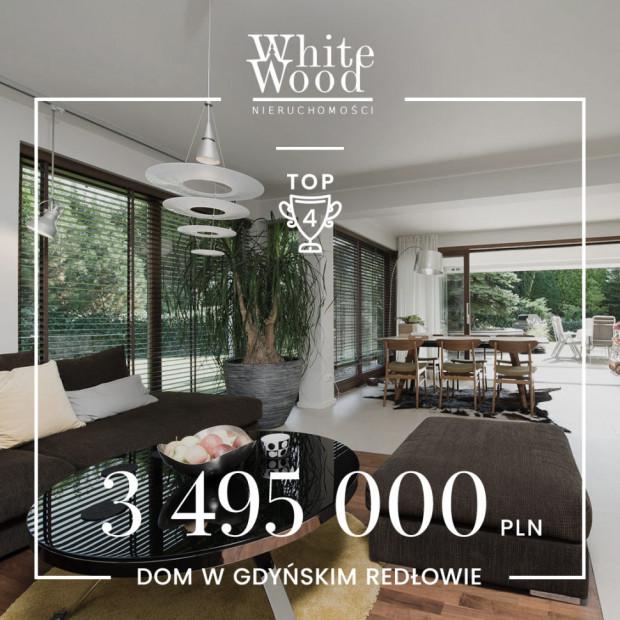 Wśród pięciu najdroższych transakcji minionego półrocza w White Wood Nieruchomości znalazł się dom w Gdyni Redłowie 3 495 000 zł.