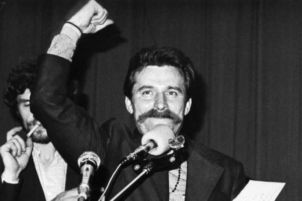 Lech Wałęsa, zaraz po podpisaniu porozumienia z rządem w sierpniu 1980 r.