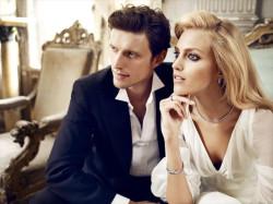 Anja Rubik i Sasha Knezevic promują diamentową kolekcję firmy Apart