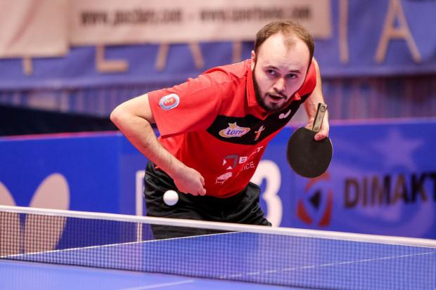 Tenisiści stołowi AZS AWFiS Balta Gdańsk w piątek rozpoczną sezon w Lotto Superlidze. Na zdjęciu Szymon Malicki.