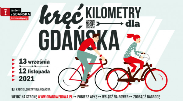 """Już 13 września rusza kolejna edycja gry rowerowej """"Kręć kilometry dla Gdańska""""."""