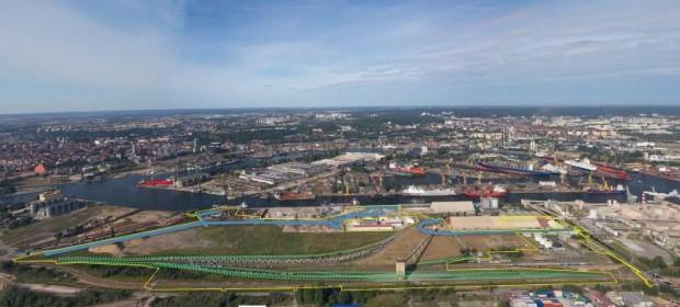 Rejon nabrzeża Przemysłowego w Porcie Wewnętrznym.