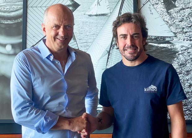 Francis Lapp, prezes Sunreef Yachts i Fernando Alonso