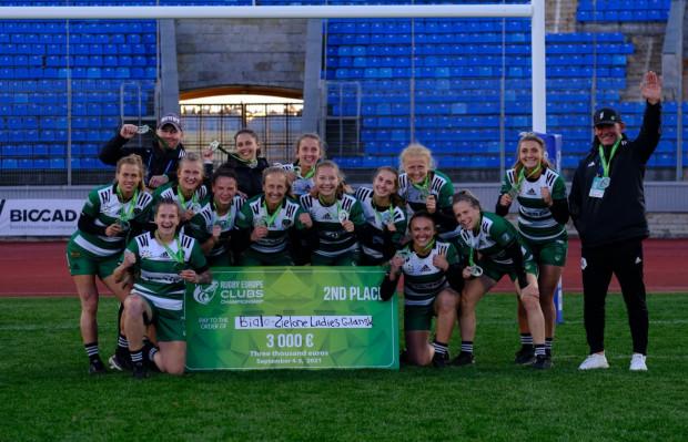 Biało-Zielone Ladies Gdańsk zdobyły srebro w klubowych mistrzostwach Europy rugby 7.