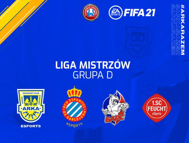 Arka Gdynia w fazie grupowej Ligi Mistrzów zmierzy się z: hiszpańskim Espanyolem Barcelona, rosyjskim Bars FC i niemieckim 1. SC Feucht eSport.