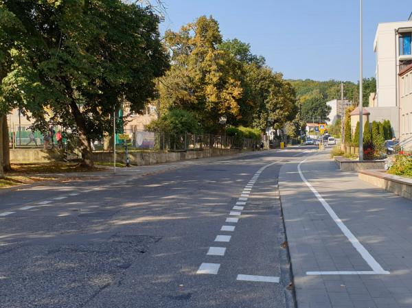 Puste miejsca na terenie strefy płatnego parkowania przy ul. Wolności na Działkach Leśnych w Gdyni.