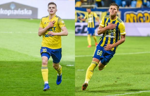 Maciej Rosołek (z lewej) czy Karol Czubak w ataku Arki Gdynia, a może powinni grać razem?