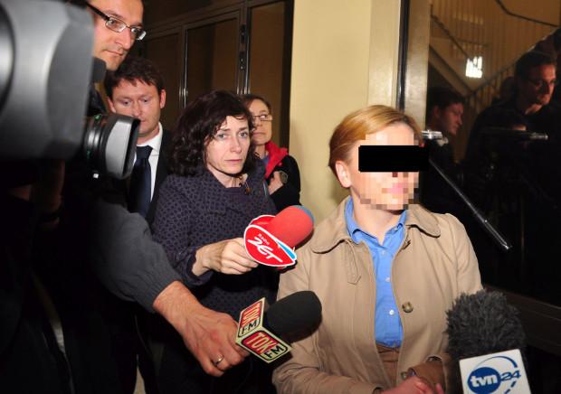 Katarzyna P. opuszcza Prokuraturę Okręgową w Gdańsku, 10.10.2012 r.