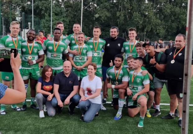 Lechia Gdańsk - zwycięska drużyna w pierwszym turnieju mistrzostw Polski rugby siódemek.