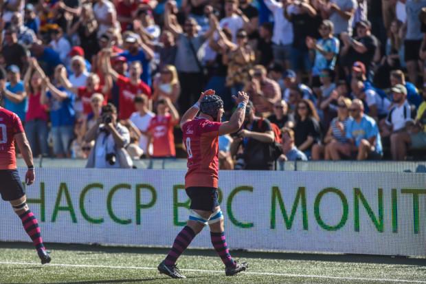 Piotr Zeszutek zdobył dla reprezentacji Polski dwa przyłożenia w meczu z Węgrami.