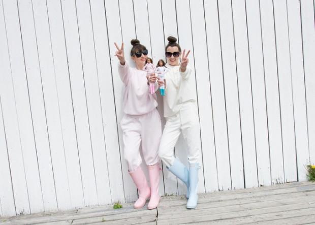 Izabella Kwella wraz z siostrą Justyną Kowalewską.