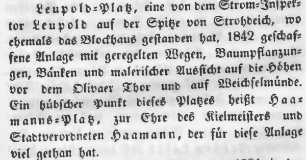 Fragment przewodnika Zerneckego z opisem parku na Polskim Haku. Źródło: Pomorska Biblioteka Cyfrowa.