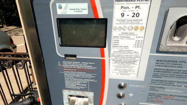 Płatność kartą? W sopockich parkomatach nie ma takiej opcji.