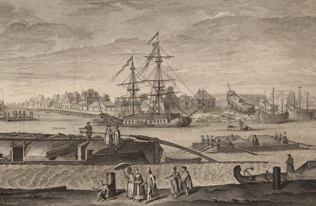 Brabank nieopodal ujścia Motławy do Wisły. Miejsce, gdzie naprawiano i czyszczono statki.