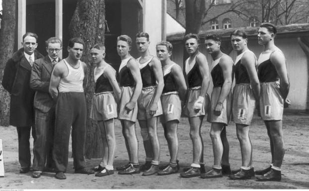 Drużyna bokserska Gedanii na zdjęciu z 1933 r.