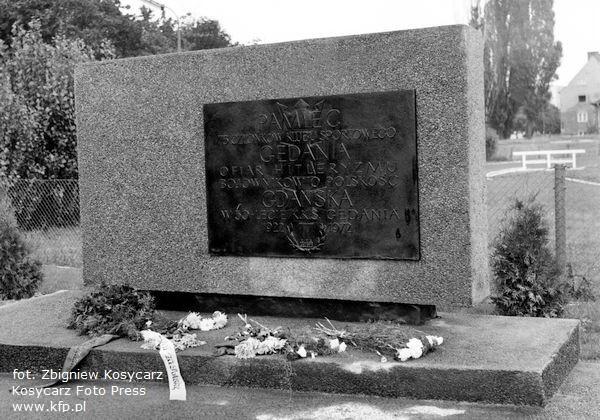 17 września 1972 r. Odsłonięcie tablicy upamiętniającej członków klubu sportowego Gedania, którzy zginęli w czasie II wojny światowej. Tablicę odsłonięto w roku 50-lecia klubu.