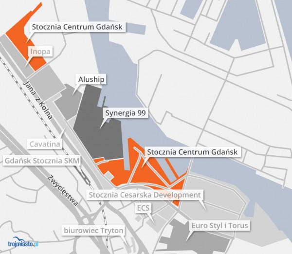 Tereny, nad którymi w głównej mierze skupiają się JEMS Architekci zaznaczono na pomarańczowo.