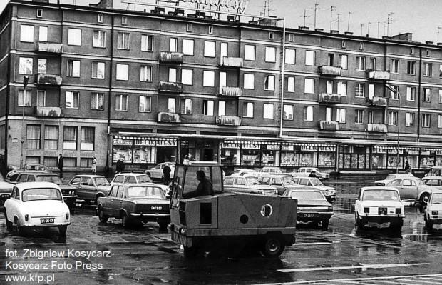 Delikatesy przy ul. Rajskiej w Gdańsku w latach 70. XX wieku.