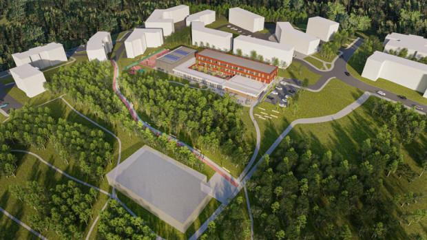 Wizualizacja nowych obiektów edukacyjnych przy ul. Morenowe Wzgórze.