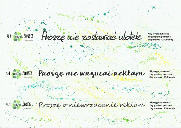 Pomysł portalu nanowosmieci.pl na naklejkę, którą możemy nakleić na naszej skrzynce pocztowej.