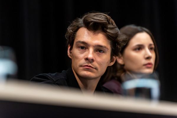Konferencja prasowa po filmie Hiacynt w sali Warszawa Gdyńskiego Centrum Filmowego Tomasz Ziętek
