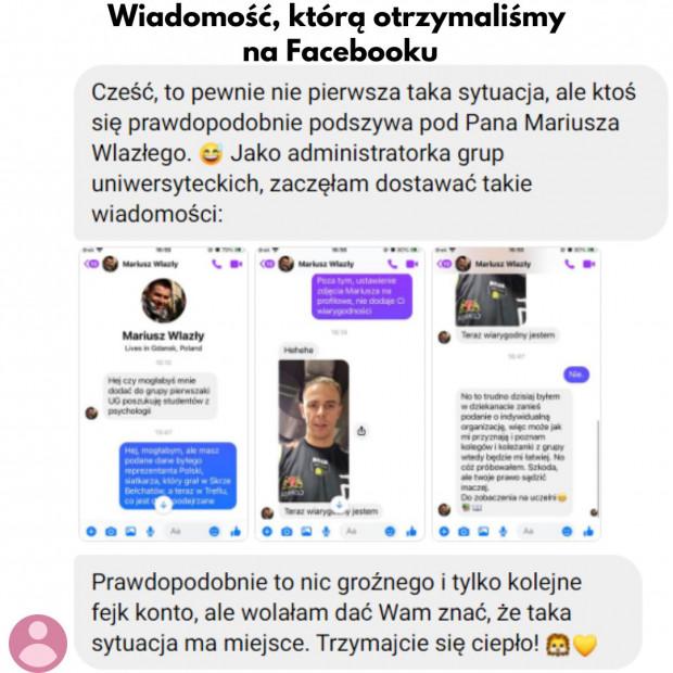 """Administratorka grupy pierwszaków o """"próbie podszycia się pod Wlazłego"""" poinformowała Trefl Gdańsk."""