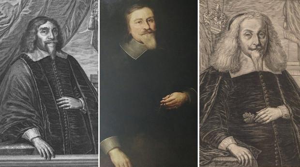 Gdańscy rajcowie przez lata manifestowali swoją skromność (bywało, że na pokaz), i wymagali jej też od mieszkańców. Od lewej: ławnik, rajca i sędzia Jacob Stüve, syn burmistrza, ławnik i rajca Salomon Giese oraz rajca Christian Schweickert.