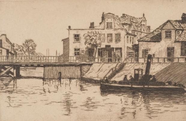 Dom pod Murzynkiem przy ul. Szafarnia 3 na grafice Bertholda Hellingratha z 1908 r.