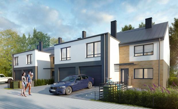 Przystań Śródmieście. Każdy z czterech domów będzie miał własny garaż. Na parterze budynków zaplanowano dodatkowe dwa pomieszczenia, w których można urządzić np. miejsce do pracy.