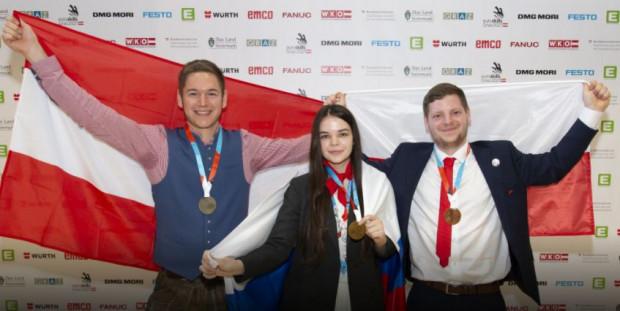 Pierwsze miejsce w EuroSkills w konkursie dla spawaczy zdobyła Rosjanka, drugie miejsce Austriak, a brąz zdobył nasz reprezentant.
