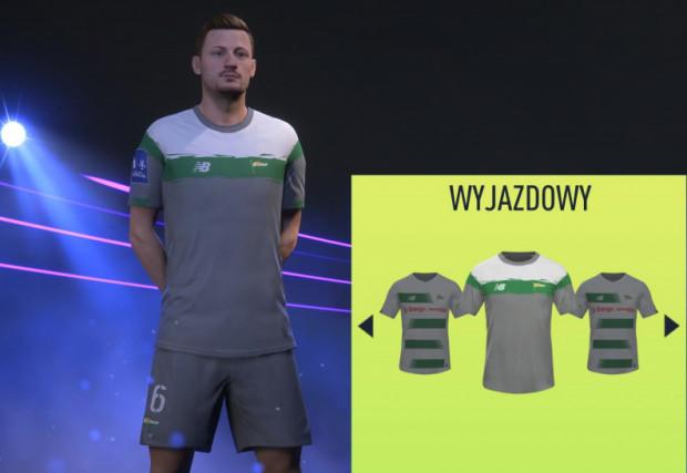 Tak prezentuje się strój wyjazdowy Lechii Gdańsk. Na razie tylko w grze komputerowej.