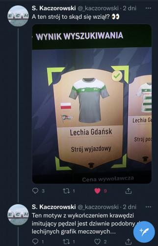 O nowym stroju Lechii w Fifa 22 jako pierwszy poinformował jeden z fanów klubu za pośrednictwem Twittera.