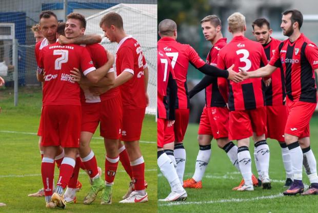Gedania (z lewej) i Jaguar Gdańsk (z prawej) walczą o awans do III ligi.