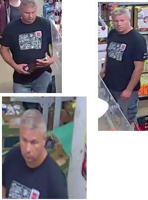 Poszukiwany mężczyzna może mieć związek z nieautoryzowanymi transakcjami utraconą kartą bankomatową.