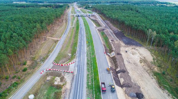 Postęp prac na budowie odcinka Nowe Marzy - Świecie. Ten fragment drogi S5 buduje firma Budimex.