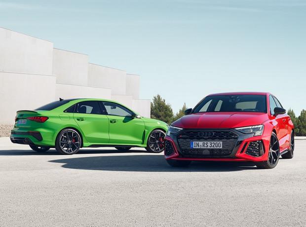 Nowe Audi RS3 w obu dostępnych wersjach: Limousine i Sportback.