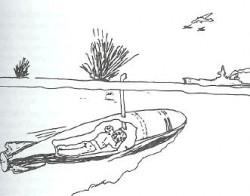 Spekulacje na temat wyglądu przedwojennych polskich żywych torped - inny z branych pod uwagę modeli.