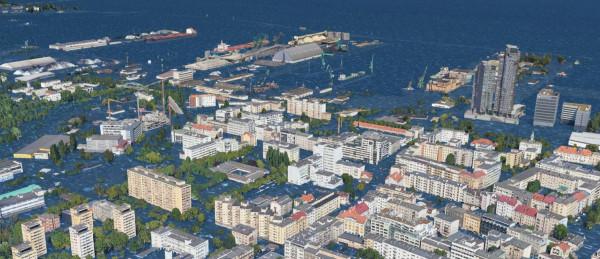 Tak może wyglądać centrum Gdyni, jeśli nie zatrzymamy zmian klimatycznych.