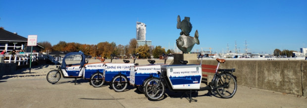 To już kolejny sezon działania wypożyczalni rowerów cargo w Gdyni.