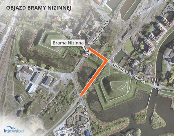 Objazd Bramy Nizinnej zostanie poprowadzony tuż obok Bastionu Żubr.