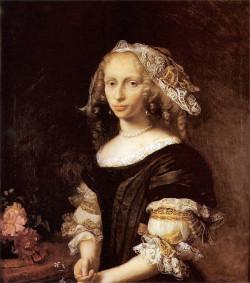Portret Konstancji von Holten Schuman, pędzla Daniela Schultza, ze zbiorów Muzeum Narodowego w Gdańsku.