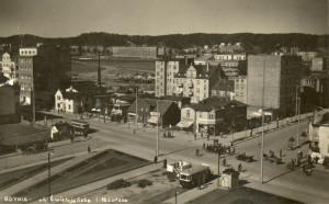 Widok na skwer z roku 1934.