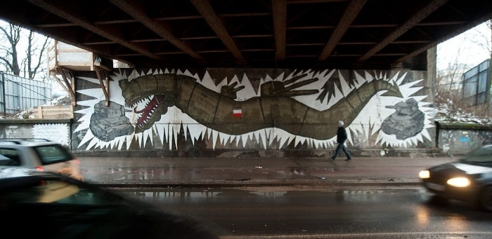 Patriotyczny mural - Smok Kaszubski