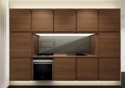 Po otwarciu frontów zabudowy można korzystać z kuchennych urządzeń.