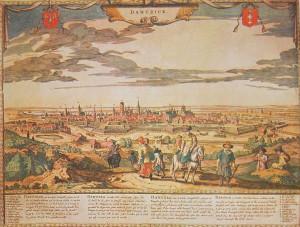 Panorama XVII-wiecznego Gdańska.