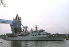 HMS London, okręt którym po II wojnie światowej dowodził J. Bartosik.