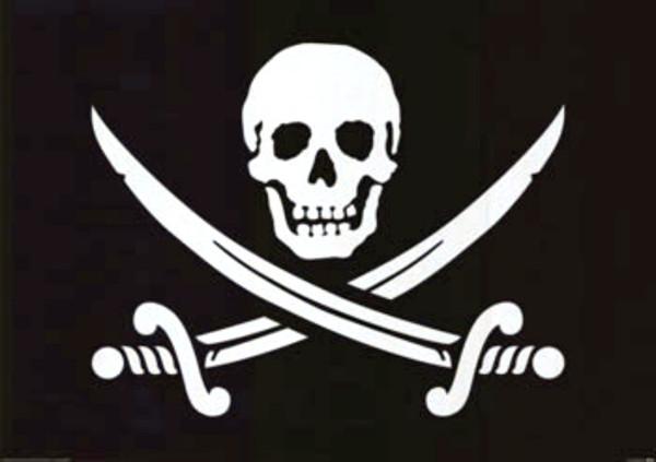 Najbardziej popularna z pirackich bander - Jolly Roger
