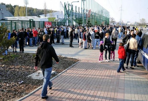 21 kwietnia 2011 roku - kibice Bałtyku nie mogą wejść na mecz swojej drużyny.