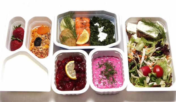 Zestaw składający się z pięciu posiłków.